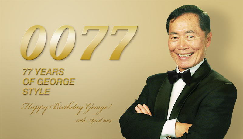 George, congratulations on your seventy-seventh birthday!